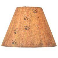 Bear Tracks Lamp Shades