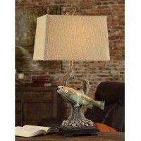 Trout Rising Table Lamp