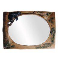 Lazy Bear Carved Mirror