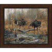 Fall Ritual Framed Moose Print