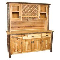 Hickory Hutch with Wine Rack