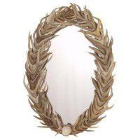 Oval Full Cover Antler Mirror