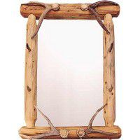 Lodge Pole Mirror with Hangers