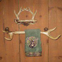 Rustic Antler Towel & Tissue Holder