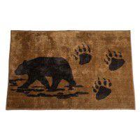 Bear and Tracks Kitchen and Bath Rug
