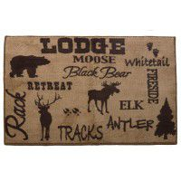 Lodge kitchen and bath rug