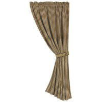 Hounds Tooth Drapery Panel