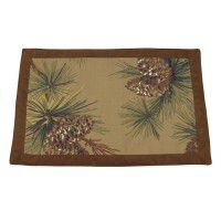 Crestwood Pinecone Place Mats CLEARANCE