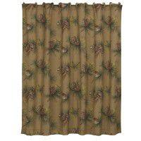 Crestwood Pinecone Shower Curtain