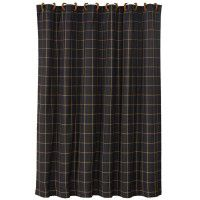 Black Window Pane Shower Curtain