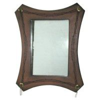 Faux Leather Barbwire Mirror