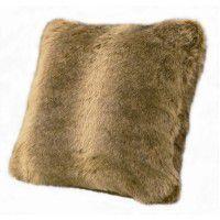 Faux Fur Pillow - Wolf