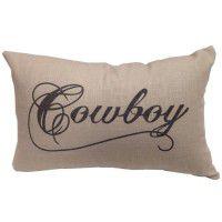 Cowboy Script Pillow