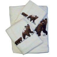 Bear Bath Towels-Available in Cream or Brown
