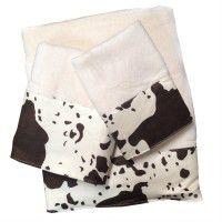 Cowhide Design Towel Set Cream