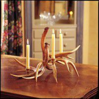 3 Candle Whitetail Candelabra