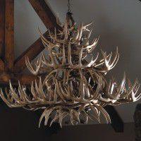 Grand Teton Faux Deer Antler Chandelier