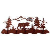 Moose Scene Coat Rack
