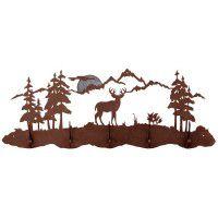 Mule Deer Scene Coat Rack