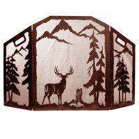 Scenic Deer Fire Screen