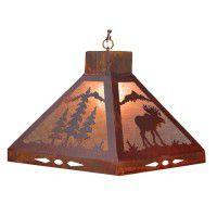 Moose & Pine Tree Pendant Light