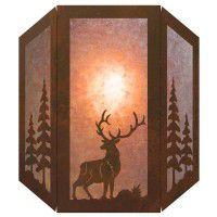 3 Panel Elk Sconce