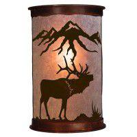 Mountain Elk Half Round Sconces
