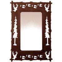 Wildlife Deer and Tracks Mirror