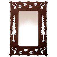 Wildlife Elk and Tracks Mirror