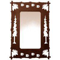 Wildlife Moose and Tracks Mirror