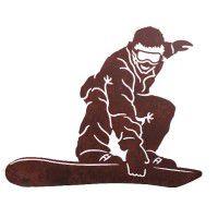 Snowboarder Metal Wall Art