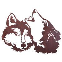 Wolves Metal Wall Art