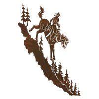 Mountain Horse Metal Wall Art