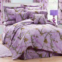 Lavender Camo Bedding