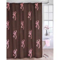 Pink Buckmark Shower Curtain