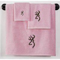 Pink Buckmark Towel Set - 3 Pcs