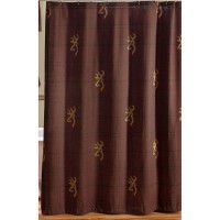 Burgundy Buckmark Shower Curtain - CLEARANCE