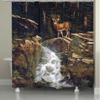 Above the Falls - Deer Shower Curtain