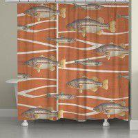 Cabin Life - Fish Shower Curtain