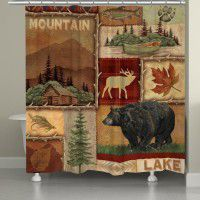 Lodge Collage Shower Curtain