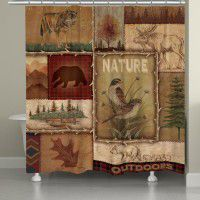 Lodge Collage 2 Shower Curtain