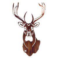 Buck Head  Metal Art