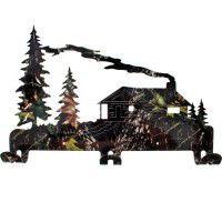 Log Cabin Camo Coat Rack