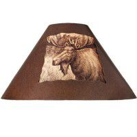 Rustic Metal Moose Lamp Shade
