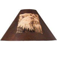Rustic Metal Eagle Lamp Shade