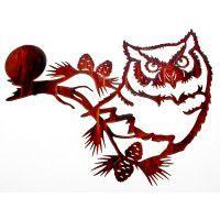 Owl and the Moon Metal Wall Art