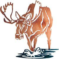 Bull of Rights Moose Metal Wall Art