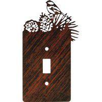 Chickadee Pine Light Switch Covers
