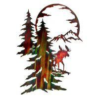 Moon River Moose Metal Wall Art