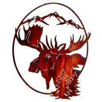 No Fear Moose Metal Wall Art